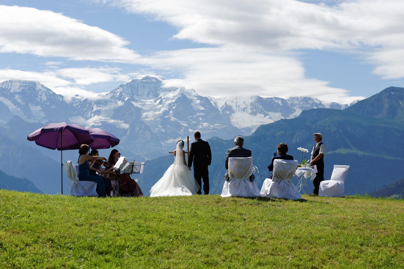 Switzerland Interlaken trash your dress