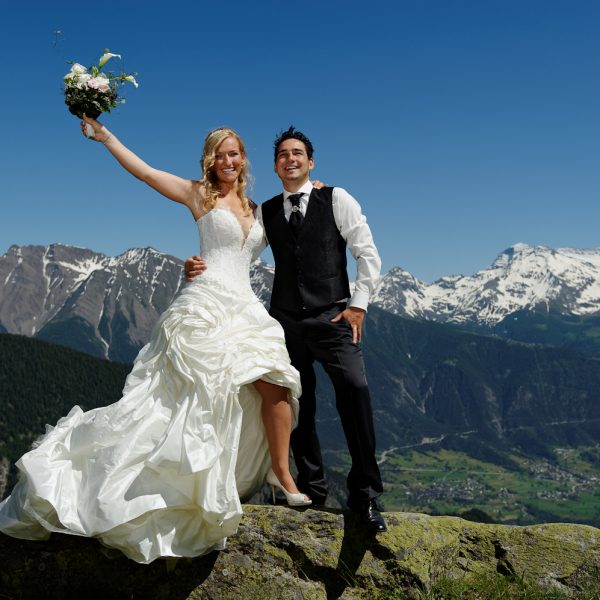 Swiss Mountain Elopement Catholic Chapel in Kanton Wallis