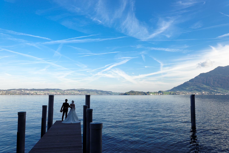 Hochzeitsfoto Vierwaldstättersee Luzern, Bürgenstock Resort