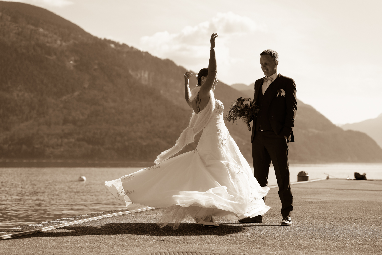 Fotoshooting am Thunersee, Heiraten in Interlaken, Harder Kulm Hochzeit