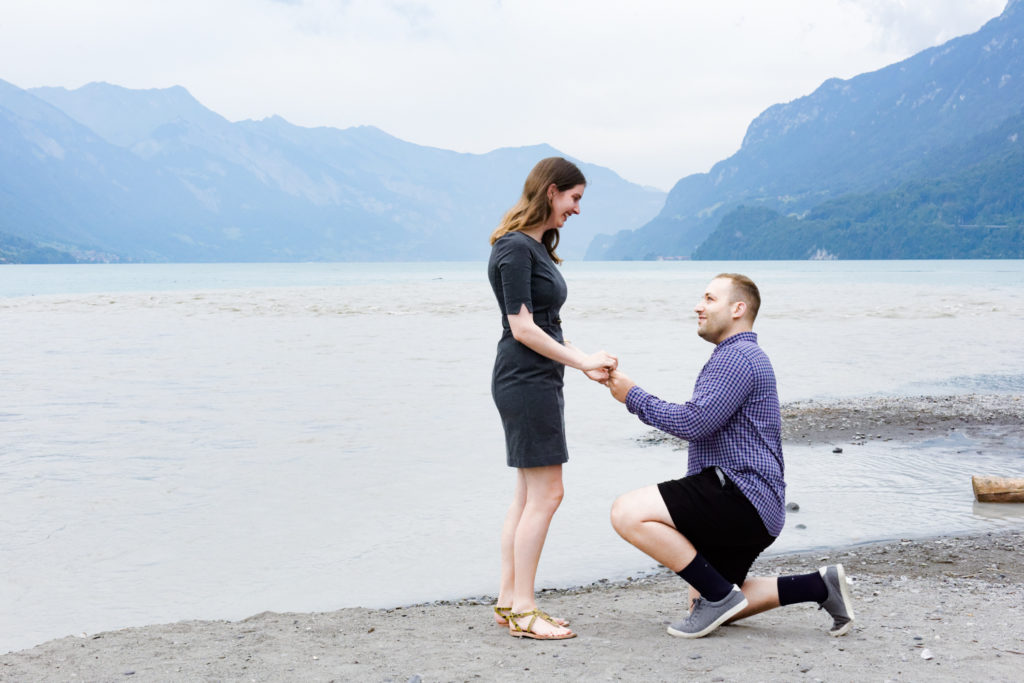 Lauterbrunnen wedding proposal