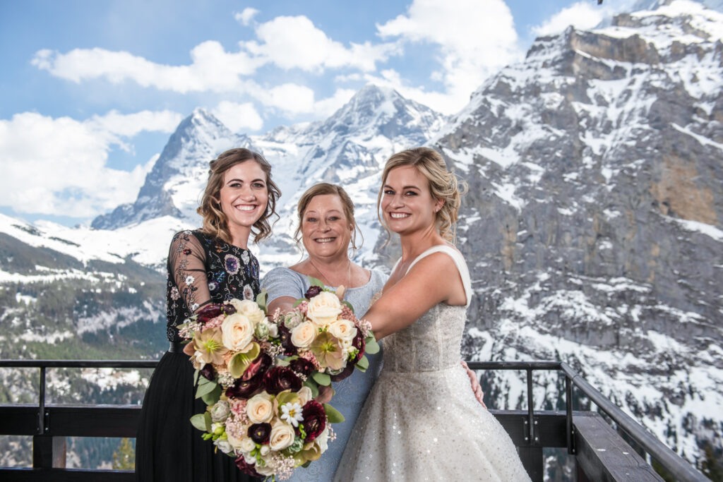 winter elopement in Switzerland