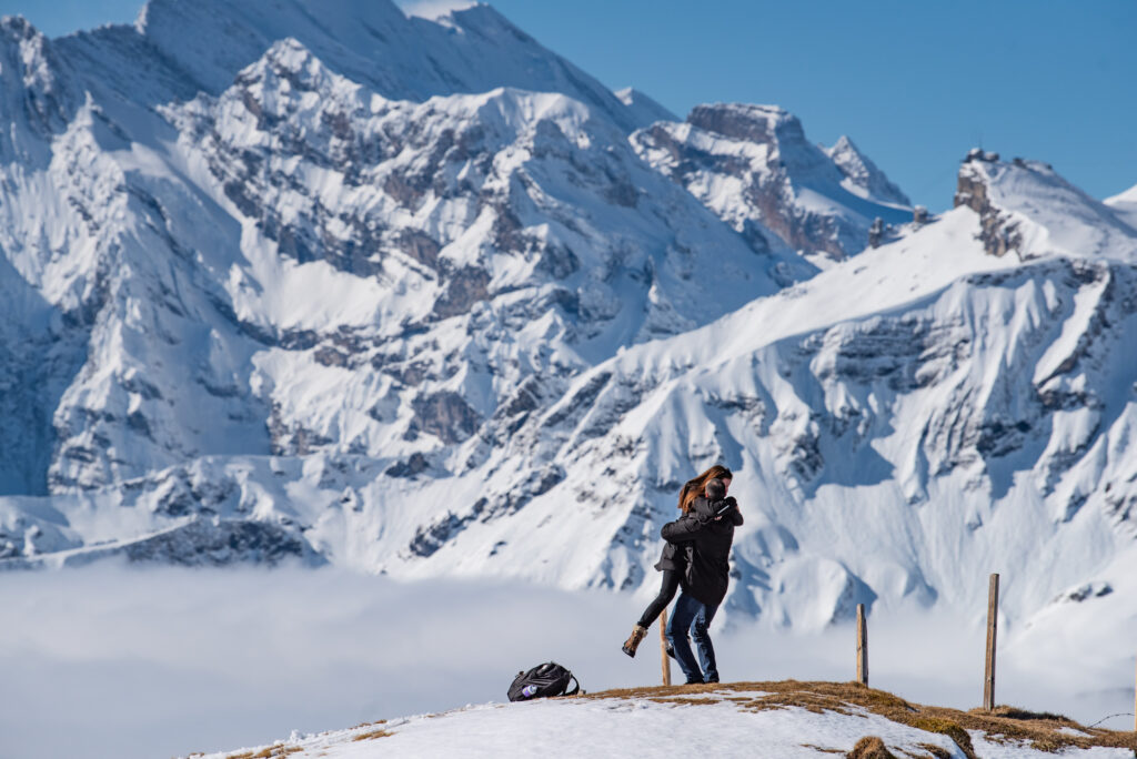 Photographer wedding proposal Interlaken